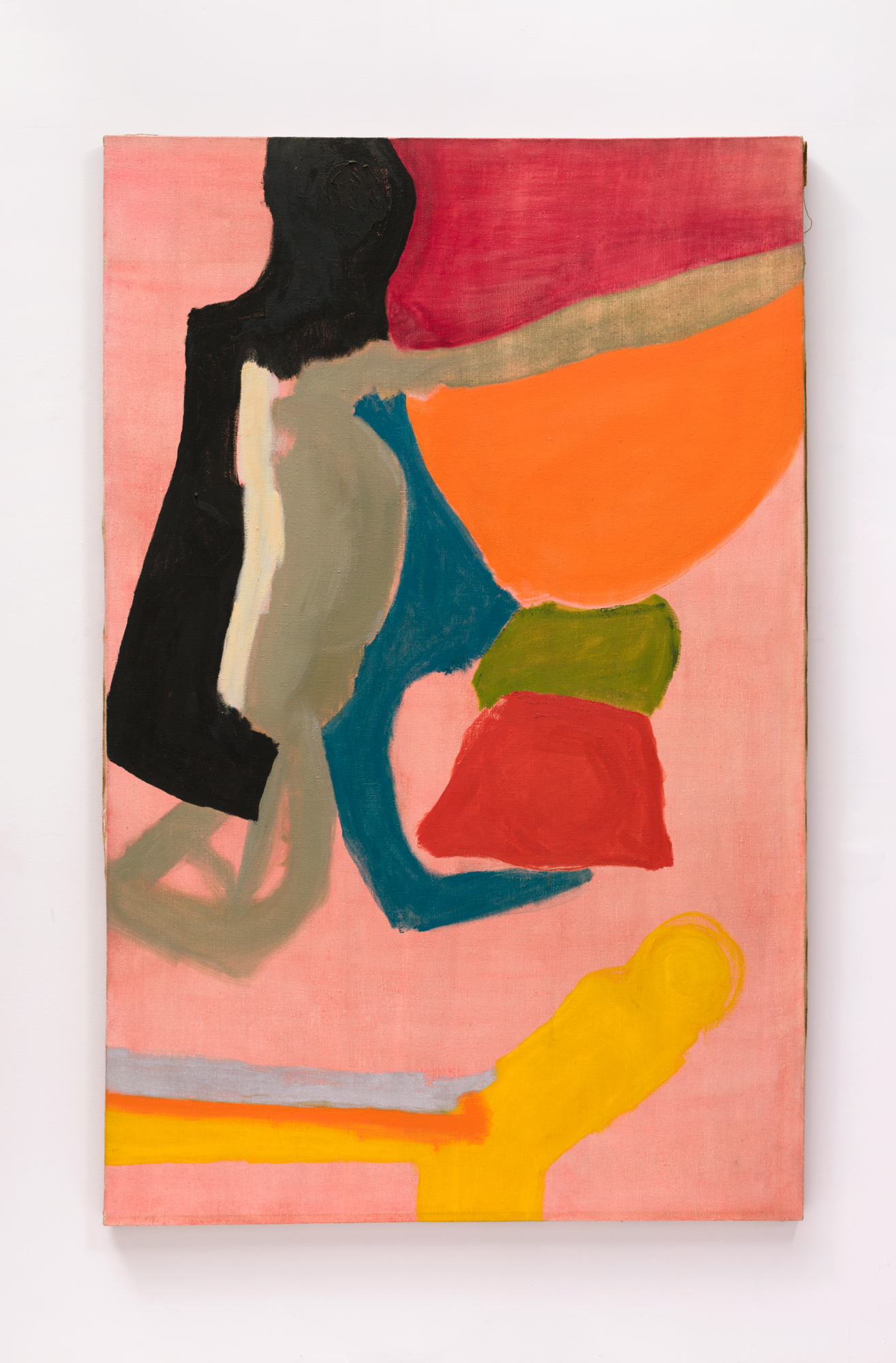 Virginia Holt, not titled, circa 1970 oil on linen, 78 × 50 inches (198.12 × 127.00 cm)